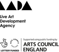 Live Art Development Agency Logo and Arts Council England Logo (Supported using public funding by)